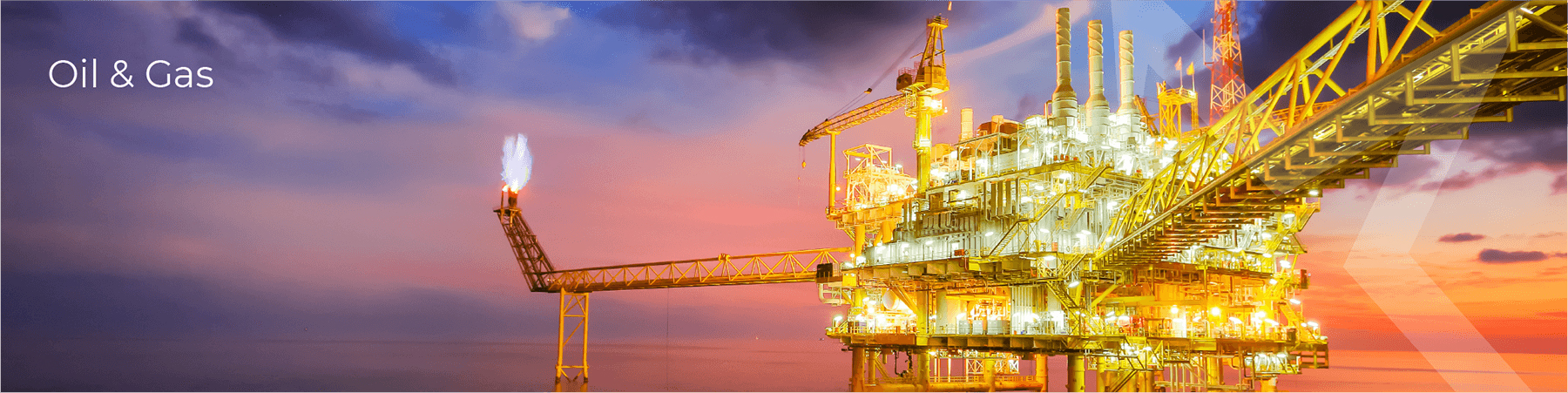 Oil & Gas Industry photo of oil rig in sunset Frenstar Butterfly Valves