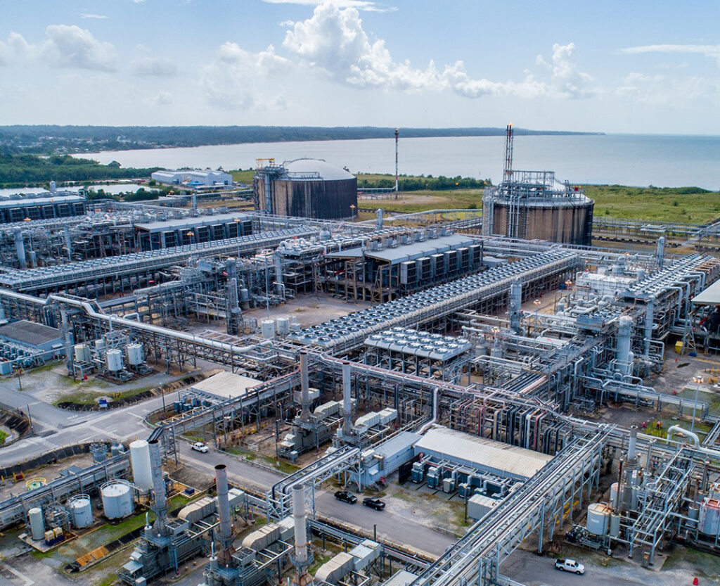 Natural gas facility. Frenstar provided shutdown butterfly valves to Atlantic LNG in Trinidad & Tobago